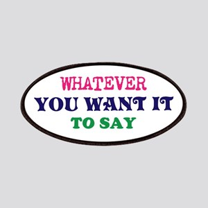 Multi-Color/Font Make Your Own Saying/Meme Patch